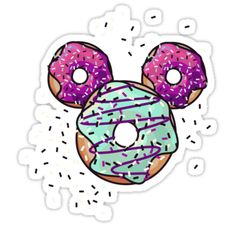 Pop Donut - Berry Frosting - Mickey Mouse made of Donuts