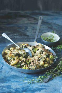 Gnocchi zapékané s brokolicí a špenátem Healthy Food, Healthy Recipes, Gnocchi, Ricotta, Kids Meals, Food And Drink, Cooking, Ethnic Recipes, Healthy Foods