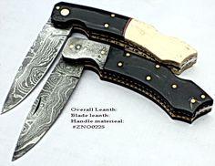 Handmade Damascus Folding Pocket Knives