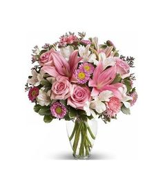 Impress someone special for you with this mixed flower bouquet in pinks and whites. Flower Delivery Service, Floral Wreath, Bouquet, Wreaths, Flowers, Pink, Heart, Home Decor, Floral Crown