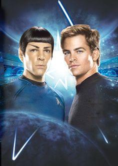 Star Trek New Kirk and Spock by tanman1 on DeviantArt