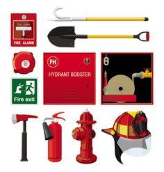 Elementos de bomberos vectorizados | Puerto Pixel | Recursos de Diseño