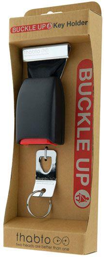 Buckle Up Key Holder™ | Seatbelt buckle key holder | Safety belt key holder