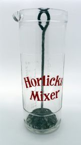 Vintage Kitchen Horlicks Glass Drink Mixer Measure Circa 1950s Measuring Jug Made in England Plunger #FollowVintage