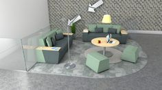 Roost & Perch. Create comfortable social spaces within the workspace.