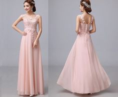 lace prom dress, blush prom dress, long prom dresses, peach chiffon dress, woman formal evening dress prom, homecoming dress prom, BE0580 on Etsy, $179.00