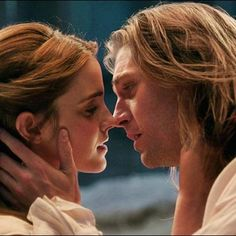Ooooooooh it's so beautiful ^_^ It's Belle and Beast but in human form (some say he is actually named Adam but I have NO IDEA what his name is so Beast it always will be)! Belle Y Adam, Disney Love, Disney Magic, Live Action, Dan Stevens Emma Watson, Belle Beauty And The Beast, Beauty And The Beast Movie 2017, Prince Adam, Beauty And The Best