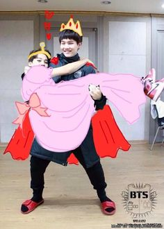 Heehee I'm dying princess Jimin and Prince Suga❤️❤️ Prince and Princess.. I'm so done...
