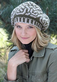 Free Pattern: Celtic Fair Isle Beret by Patons