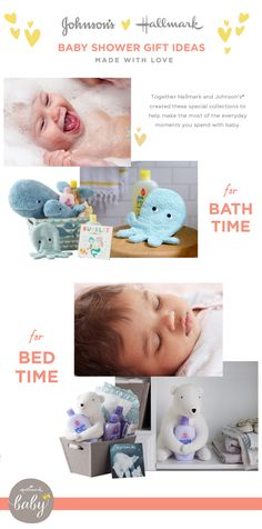 Together, Johnson's and Hallmark have teamed up to create a collection of baby shower gifts, perfect for the new mommy in your life. From bedtime books and stuffed animals to a playful bath time set, the collection has everything you need to celebrate a new baby!