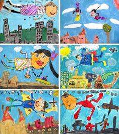 https://flic.kr/p/bL3Yrk | 1st Grade Chagall Studies | Here are a few more examples from our first grade Chagall project.