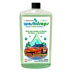 Highland 8568000 Washdrops Wash and Shine Solution - 32 oz. Cleaning Hacks, Cleaning Supplies, How To Clean Granite, Bed Wetting, Clean Your Car, Sparkling Clean, Clean And Shiny, How To Double A Recipe, Diy Cleaners