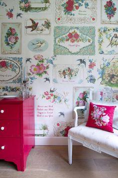 Mural papel pintado Romantic, telas & papel