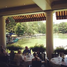 Beautiful view from The Loeb Boathouse in Central Park, NY! I love this place!