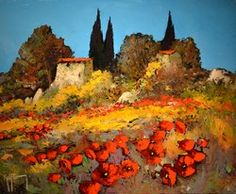 46X38CM CABANON EN PROVENCE 8F Wall Decor, France, Landscapes, Gallery, Drawings, Pictures, Painting, Circuit, Artworks