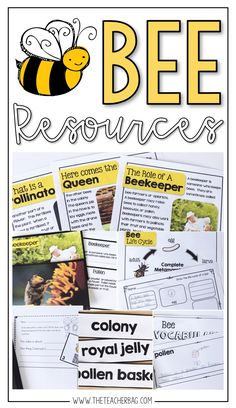 This comprehensive nonfiction unit is packed full of resources for your bees and pollinators unit. It includes nonfiction reading passages, graphic organizers, QR codes, vocabulary resources and more! Bee Facts For Kids, Bees For Kids, Teaching Kids, Kids Learning, Teaching Science, Bee Life Cycle, Plan Bee, Bee Activities, Bee Theme