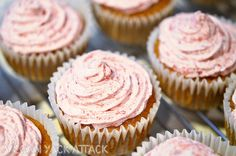 Spiced Cupcakes with Blood Orange Icing by Yack_Attack, via Flickr