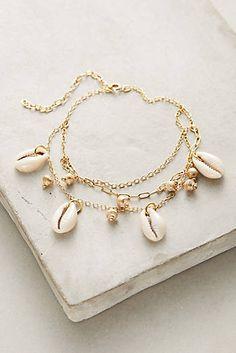 b1db921b139d Layered Seashell Ankle Bracelet Beaux Bijoux, Bracelets De Cheville Argent,  Bijoux De Bracelets,