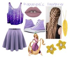 """""""Rapunzel's Daughter"""" by crystallizedrose23 on Polyvore featuring Vans, Lime Crime and Converse"""