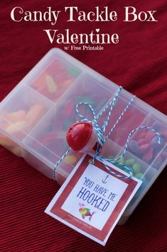 candy tackle box valentine #giftbaskets