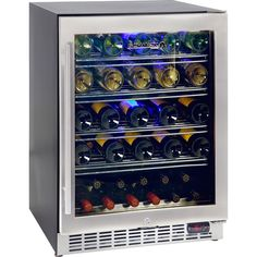 Quality wine fridge well designed with quiet operation, can be built in under bench tops, units have quality parts and fit 51 x bottles of your favourite wines. Seamless stainless door with lock looks great and units have special LOW E glass to minimise c Drinks Fridge, Beer Fridge, Wine Drinks, Beer And Wine Refrigerators, Built In Bench, Wine Tasting, Glass Door, Home Interior Design, Red Wines