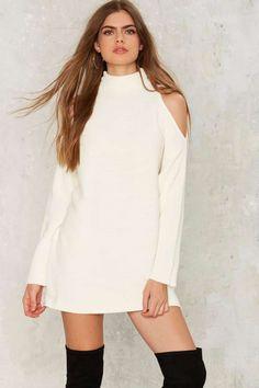 Nasty Gal Bare Minimum Sweater Dress