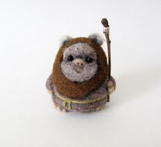 Hey, I found this really awesome Etsy listing at http://www.etsy.com/listing/160474888/needle-felted-ewok