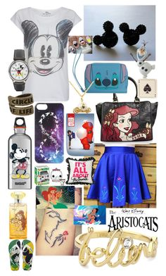 """""""Description!! For @addicted-to-disney"""" by puppyness ❤ liked on Polyvore featuring Paul & Joe Sister, Disney, SIGG, Avenida Home, Disney Couture and Havaianas"""