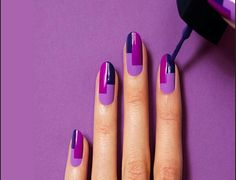 Purple Nail Art Tutorial