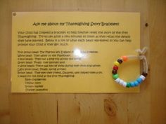 Thanksgiving Story Bracelet with FREE Printable