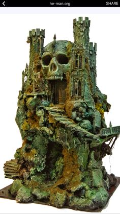 He Man - Castle Greyskull 80s cartoon as a sculpture
