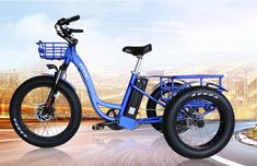 front drive 3 three wheel fat tire cargo electric tricycle bike for adult Velo Tricycle, Adult Tricycle, Trike Bicycle, Electric Cargo Bike, Electric Tricycle, Electric Cycles, Three Wheel Bicycle, Third Wheel, Chopper Bike