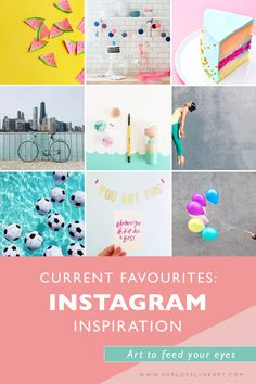 Our favourite Instagram accounts right now. Colourful inspiration to feed your eyes!