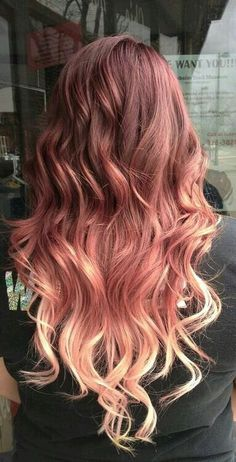 Rose Gold Ombre ~ I love this color! I don't think it would look good on me though...