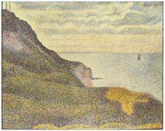 Port-en-Bessin, the Semaphore and Cliffs - Seurat Georges