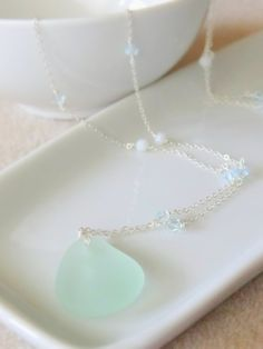 Prince Edward Island Sea Glass Pendant Necklace by lyndsaydayle, $35.00