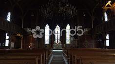 4k Traditional evangelic church inside zoom Harz village Braunlage - Stock Footage   by Beckhusen