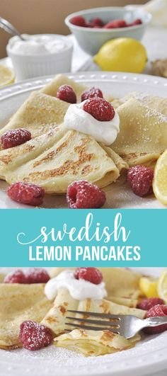Swedish Pancakes - a cross between crepes and pancakes, this pancake recipe is one you'll go back to again and again. via www.thirtyhandmadedays.com