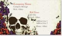 skeleton skull Signature Business Cards