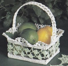 Trellis Basket Crochet Pattern - Thread Crochet