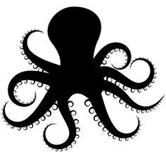 Octopus Silhouette [alternative guest book inspiration]