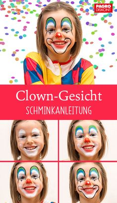 Scary Clown Face, Clown Face Paint, Clown Faces, Scary Clowns, Vintage Circus Party, Vintage Carnival, Clown Party, Party Masks, Easy Clown Makeup
