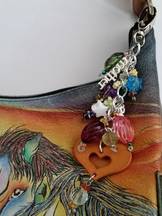 SOLD! Mother & Child  endearing keyring or purse fob, hearts and stars, handmade in USA, by ArizonaBeadWorks on Etsy Say thank you to your mom for being so caring through the years. $12.00