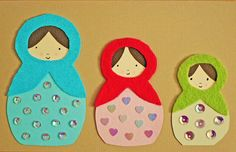 Matryoshka card. Could also be used as a bookmark.