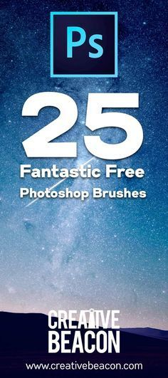 25 Fantastic #Free #Photoshop brushes you'll actually use!