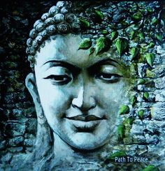 buddhablessnamasteuniverse: All things appear and disappear because of the concurrence of causes and conditions. Nothing ever exists entirely alone; everything is in relation to everything else. ― Buddha Buddha Painting By Indian Artist Sanjay Soni Buddha Kunst, Buddha Zen, Buddha Buddhism, Buddhist Art, Buddha Face, Buddha Garden, Ganesha, Buddha Painting, Buddha Drawing