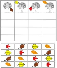 cheznounoucricri - Page 89 Fall Preschool Activities, Preschool Learning, Kindergarten Worksheets, Preschool Crafts, Toddler Activities, Fall Arts And Crafts, Autumn Crafts, Childhood Education, Kids Education