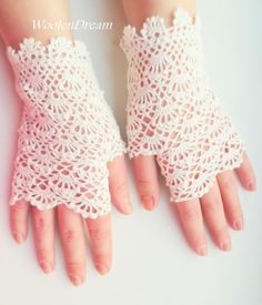 Milk White Bridal Gloves Wedding Fingerless Gloves Crochet | Etsy Cotton Gloves, Lace Gloves, Crochet Gloves, Fingerless Gloves, Women's Gloves, Baby Cocoon Pattern, Crochet Baby Cocoon, Hand Crochet, Crochet Lace
