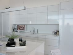 modern kitchen white light