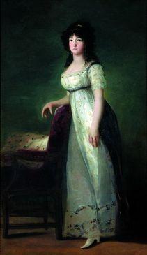 María Gabriela Palafox y Portocarrero, marquesa de Lazán, en la casa de alba, madrid